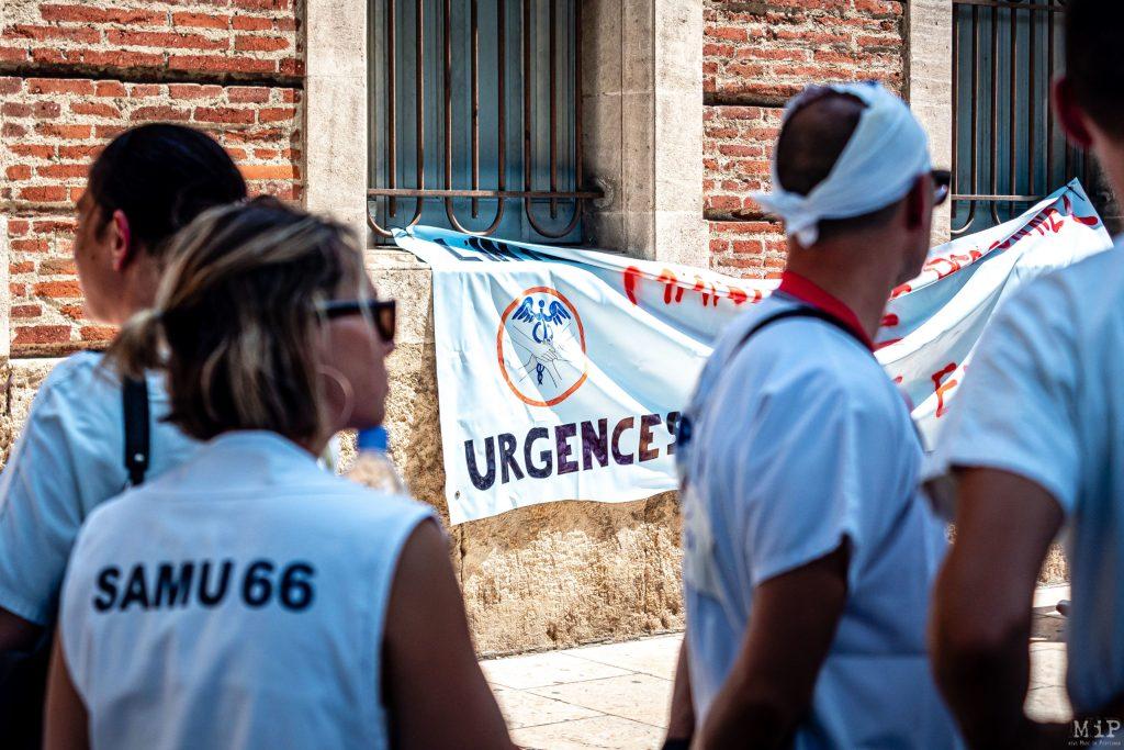 02/07/2019, Perpignan, Rassemblement blanc des soignants Urgences CHU