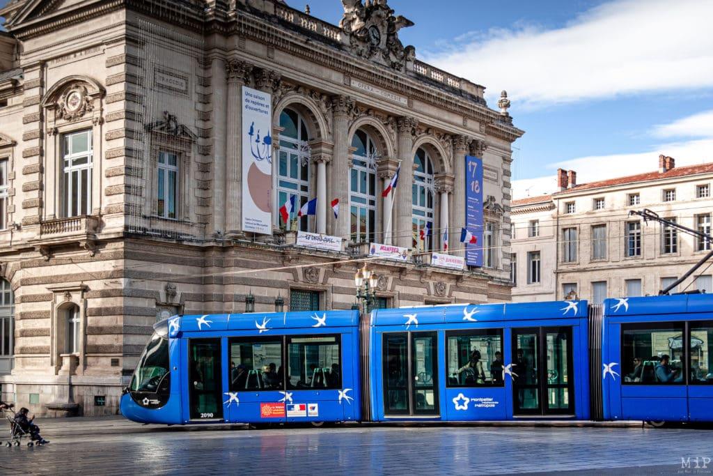10/11/2017, Montpellier, France, Illustrations centre historique Comédie Peyrou © Arnaud Le Vu / MiP / APM