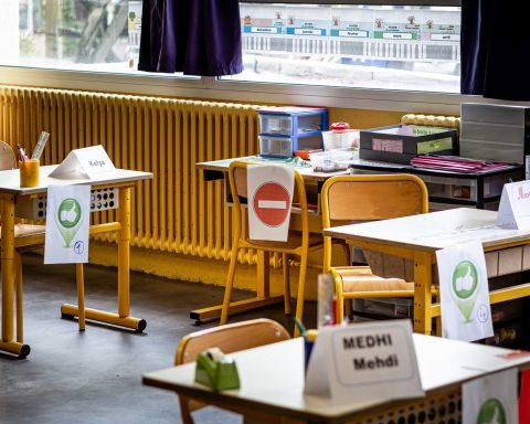 11/05/2020 Perpignan, France, Illustration déconfinement retour enfants en école primaire © Arnaud Le Vu / MiP / APM