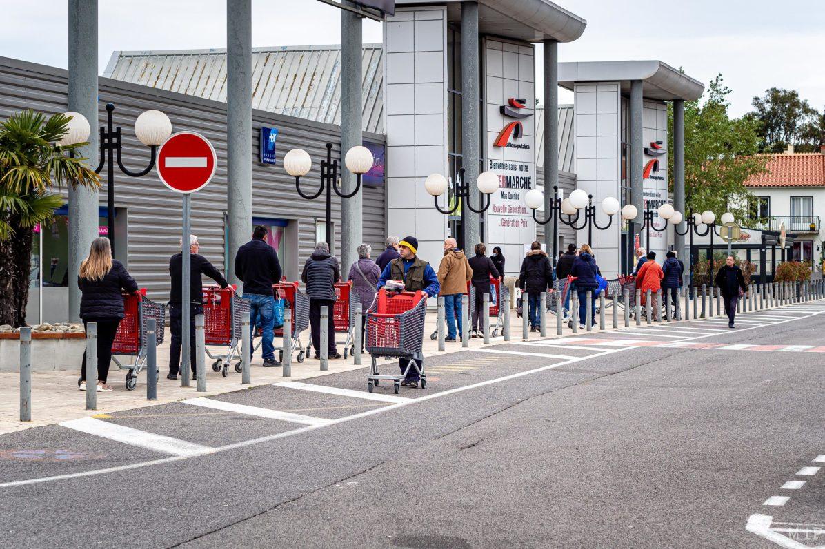 Illustrations Coronavirus Covid-19 vie quotidienne commerces Perpignan © Arnaud Le Vu / MiP / APM