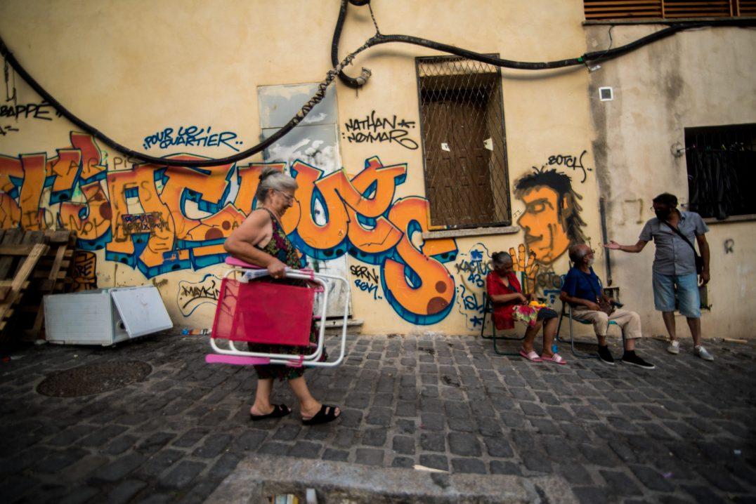 Vie quotidienne dans une rue du quartier Saint-Jacques Perpignan. © Stephane Ferrer Yulianti