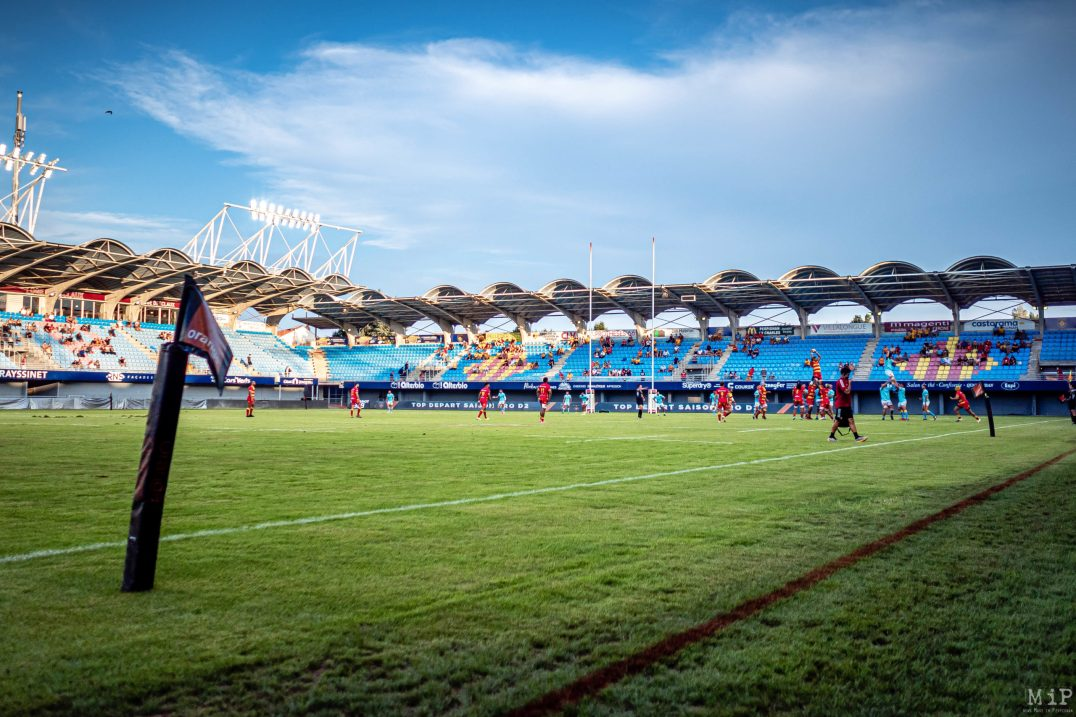 14/08/2020, Perpignan, France, Test Match USAP ProD2 Rugby Covid-19 Coronavirus © Arnaud Le Vu / MiP