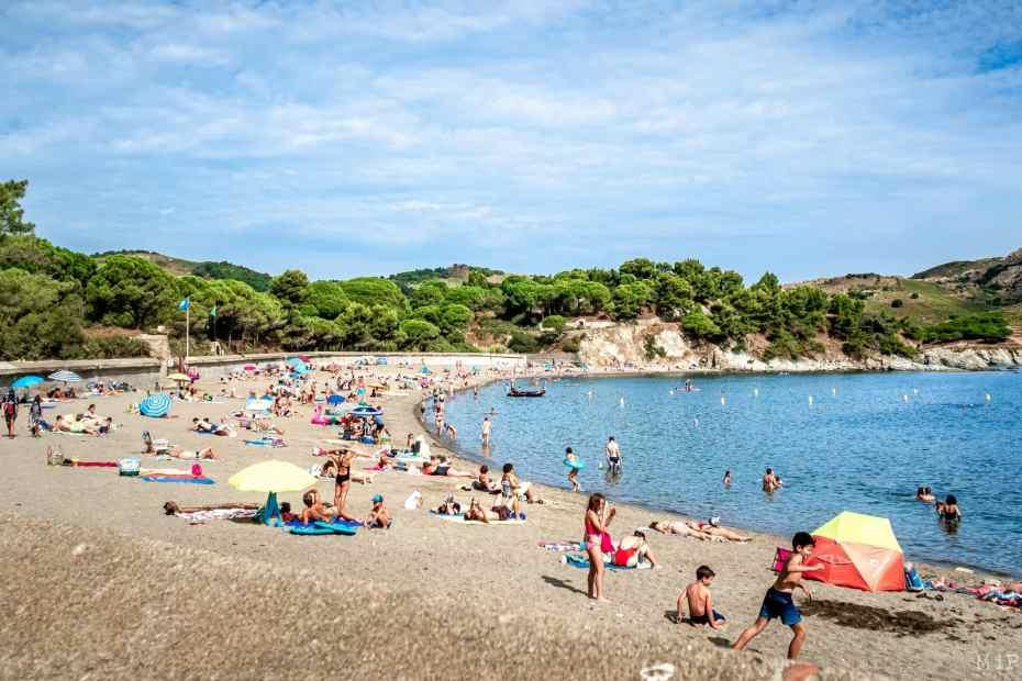 17/08/2020, Paulilles, France, littoral des Pyrénées-Orientales pendant les vacances, crique, barque, vignoble © Arnaud Le Vu / MiP