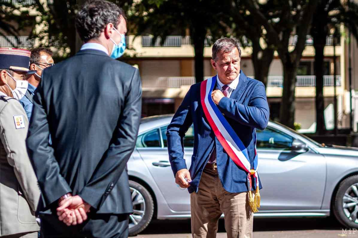 24/08/2020, Perpignan, France, Louis Aliot, maire de Perpignan à une cérémonie aux monument aux morts.