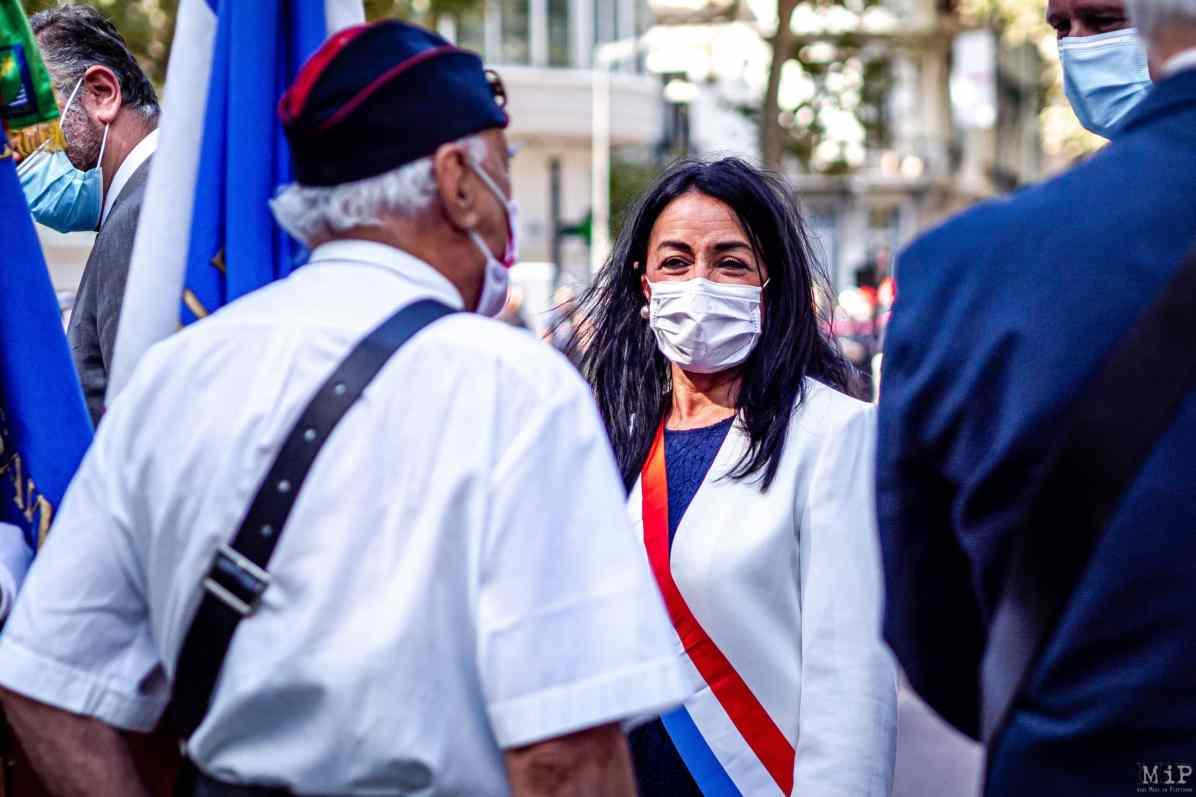 24/08/2020, Perpignan, France, Cérémonie monument aux morts en présence de la députée Catherine Pujol