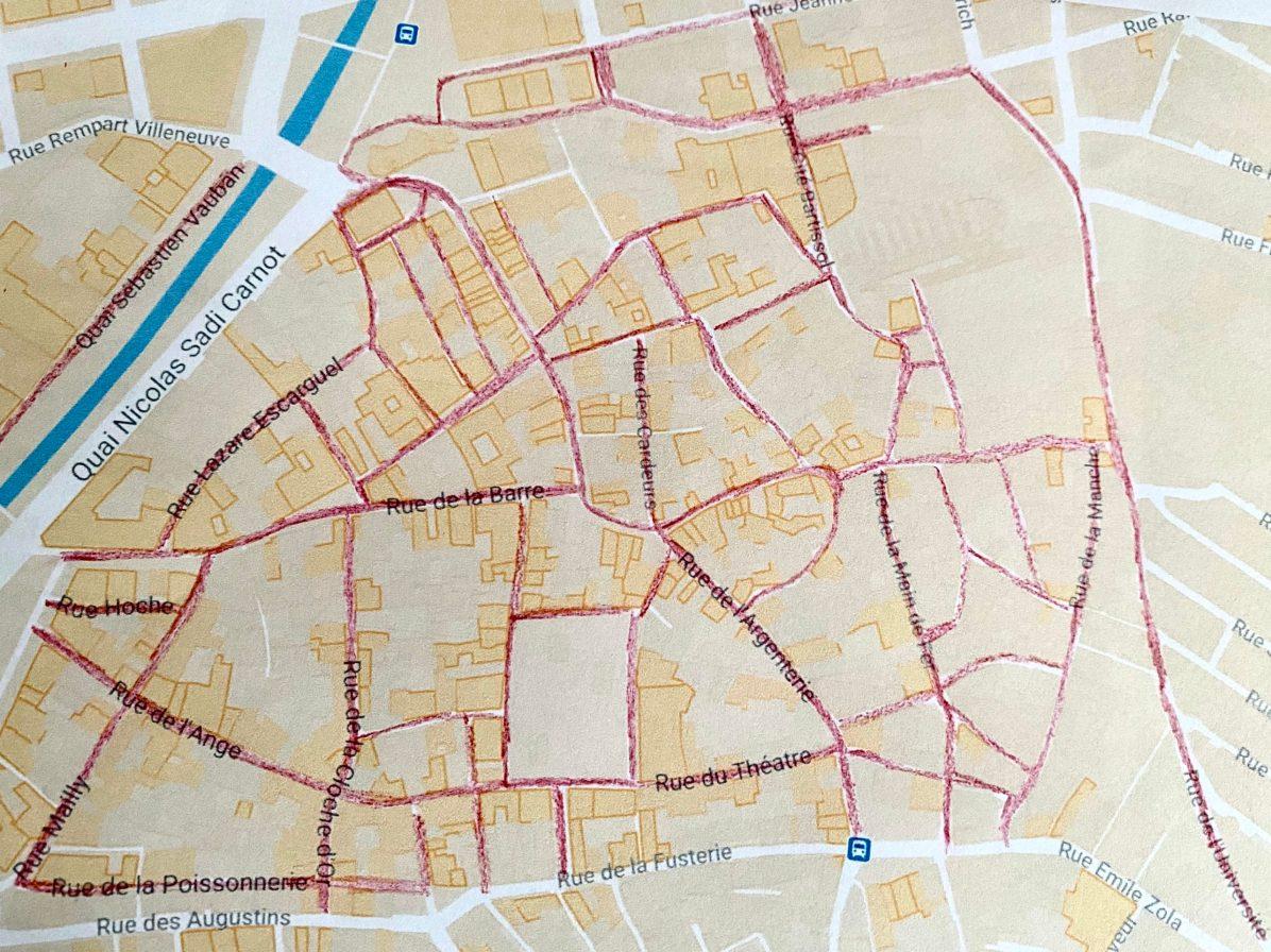 Rues de Perpignan où le masque devient obligatoire à partir du 15 août