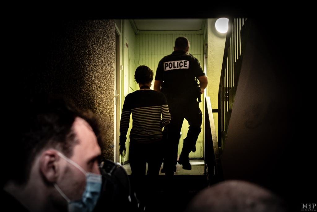 22/09/2020, Perpignan, France, Opération contrôle police stupéfiants cité champs de mars © Arnaud Le Vu / MiP