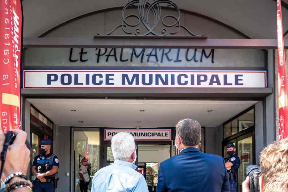 23/09/2020, Perpignan, France, Palmarium, commissariat, Police municipale © Arnaud Le Vu / MiP