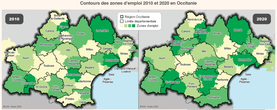 Nouvelles zones d'emploi en Occitanie