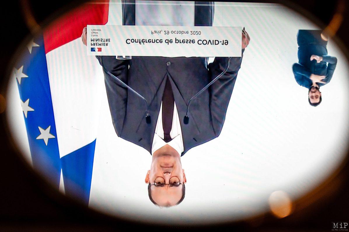 29/10/2020, Perpignan, France, Allocution Jean Castex déconfinement © Arnaud Le Vu / MiP