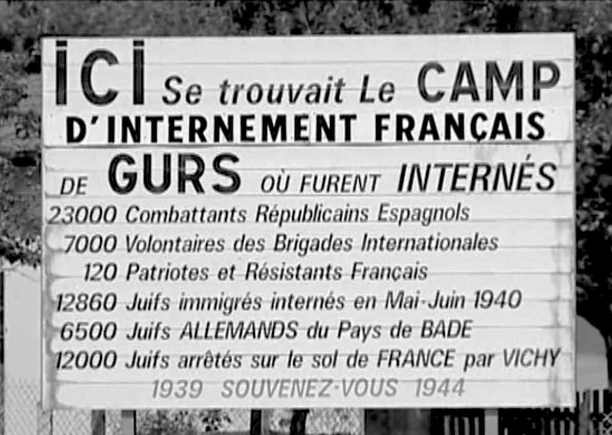 Camp de Gurs - Panneau mémoriel