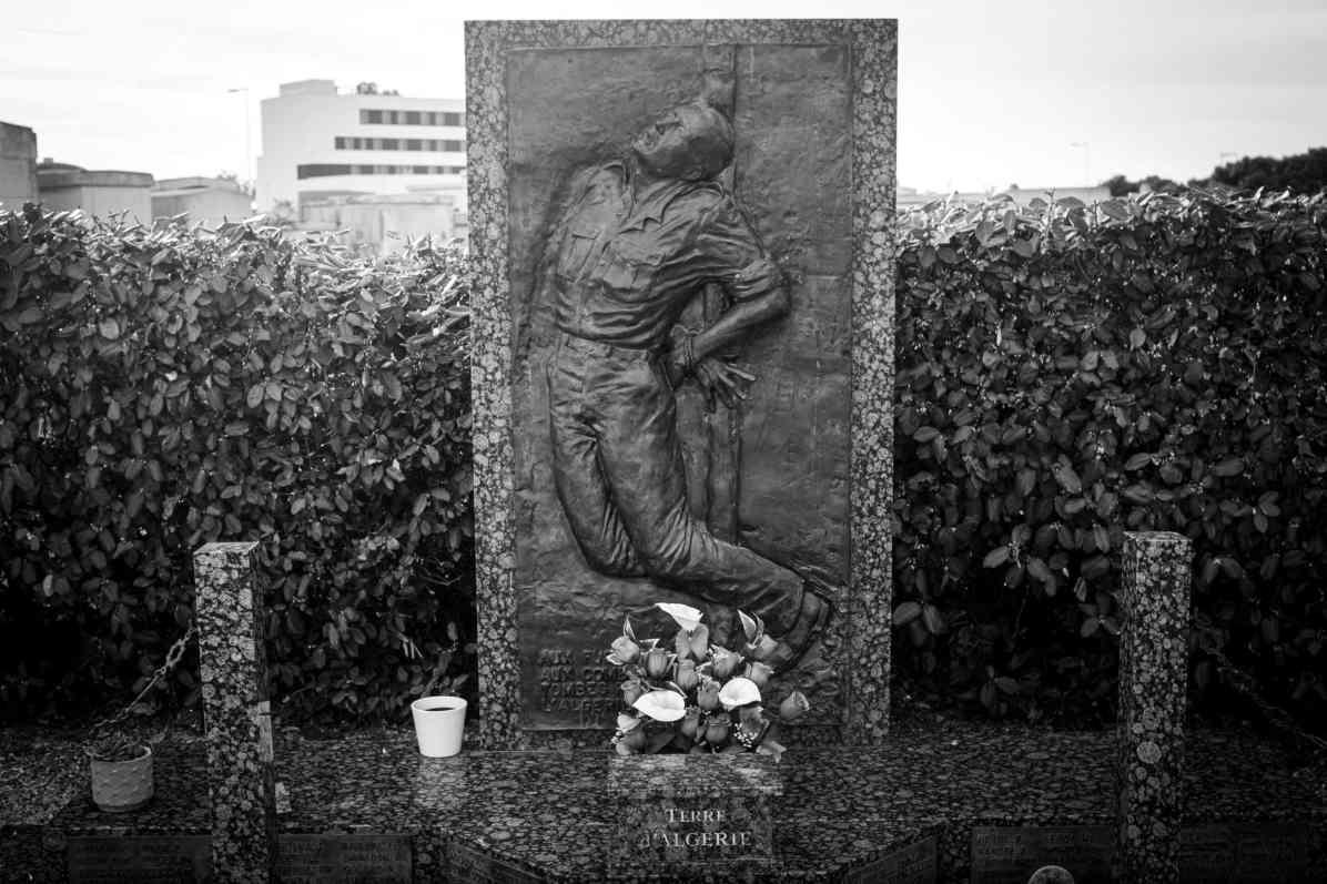 Stèle érigée dans le cimetière Nord à Perpignan. Photo Idhir Baha