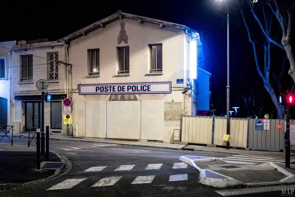 04/11/2020, Perpignan, France, Vie quotidienne Poste de Police © Arnaud Le Vu / MiP