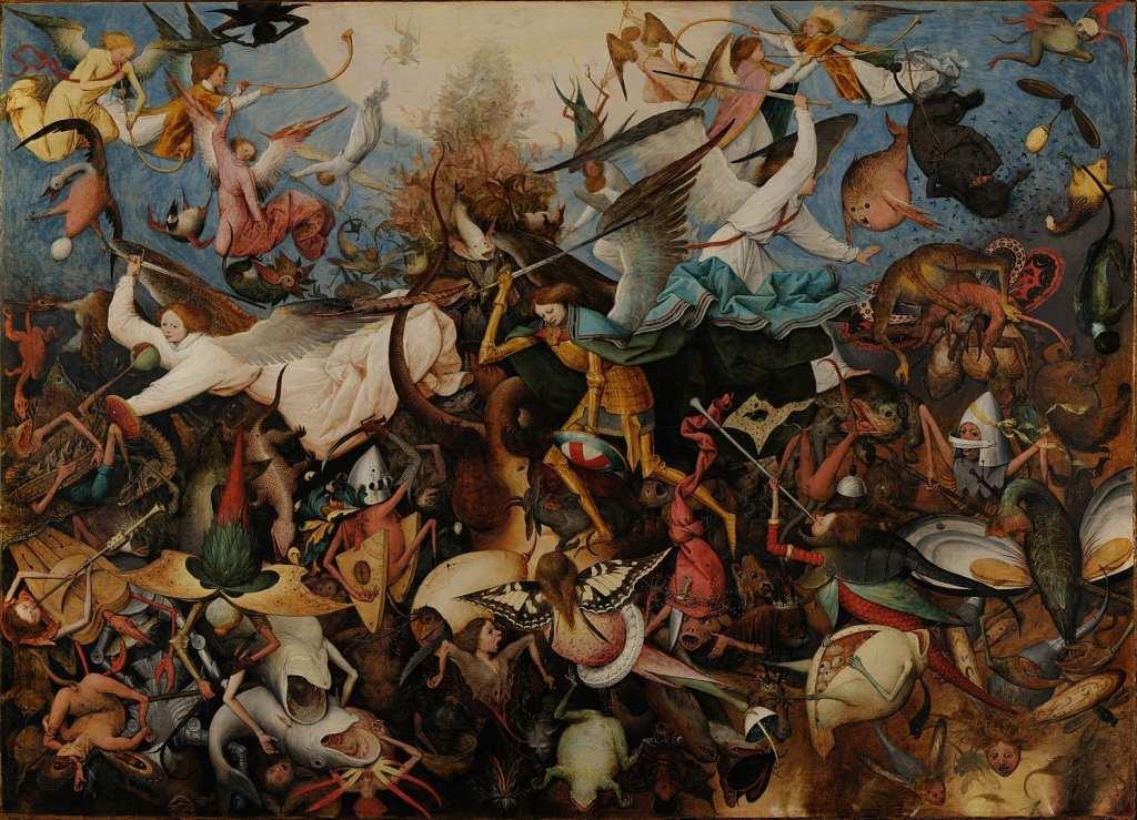 La Chute des anges rebelles, par Pieter Brueghel l'Ancien, Musées royaux des beaux-arts de Belgique