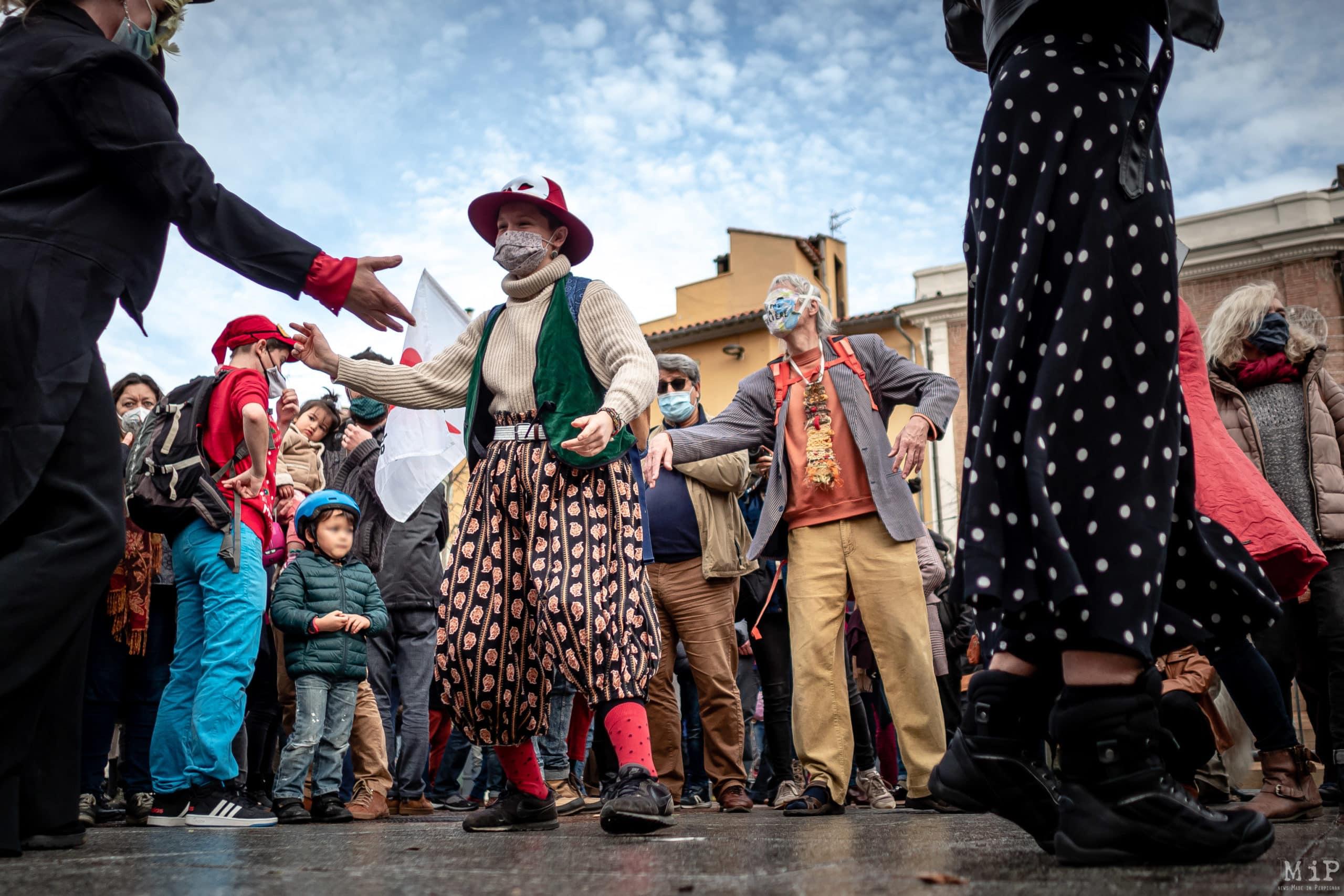 19/12/2020, Perpignan, France, Manifestation de soutien à la culture, , intermittents du spectacle © Arnaud Le Vu / MiP
