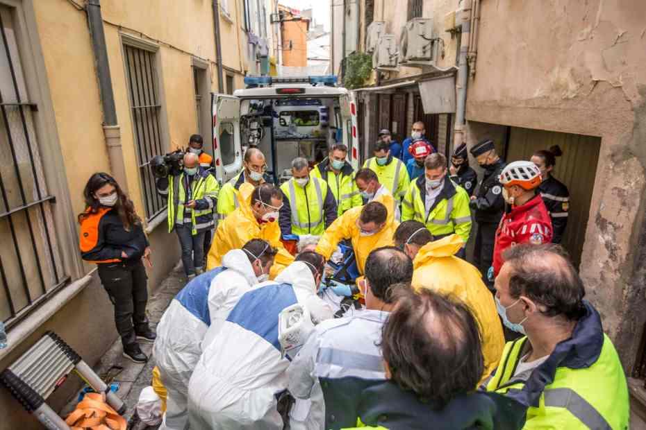 Evacuation sanitaire Saint-Jacques - Crédit photo © Guillaume Collard SDIS 66