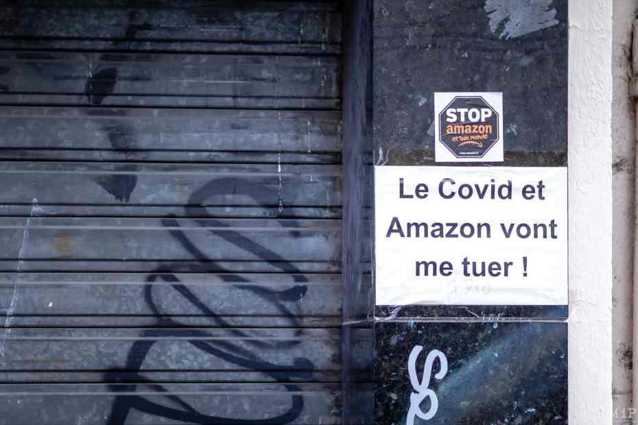30/12/2020, Perpignan, France, Covid-19 & Amazon et la fermeture des commerces © Arnaud Le Vu / MiP