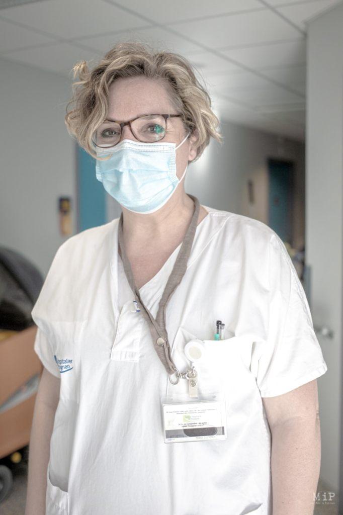 Adeline, infirmière et cadre - Credit photo Idhir Baha