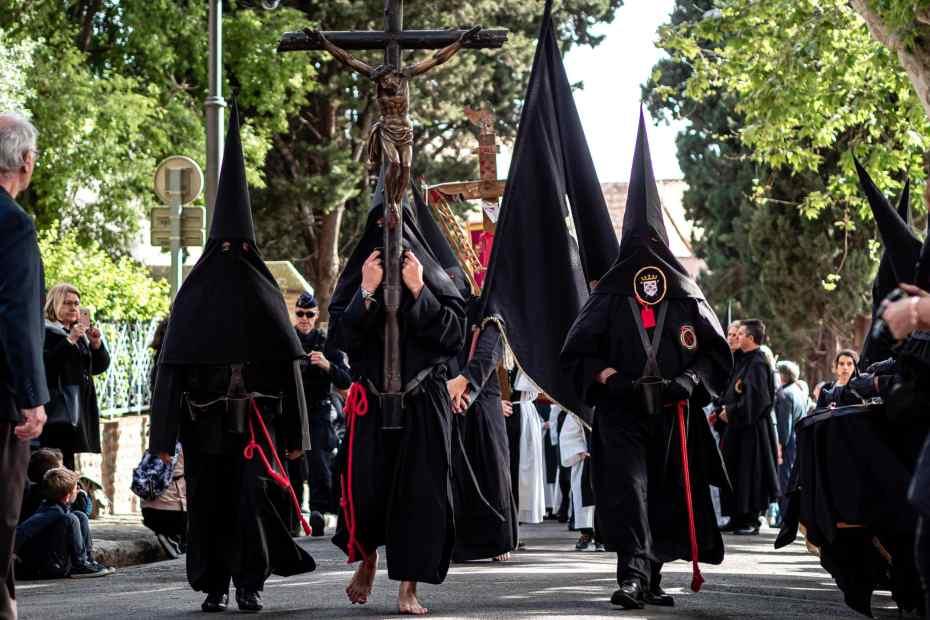 Sanch Procession vendredi saint Perpignan avril 2019