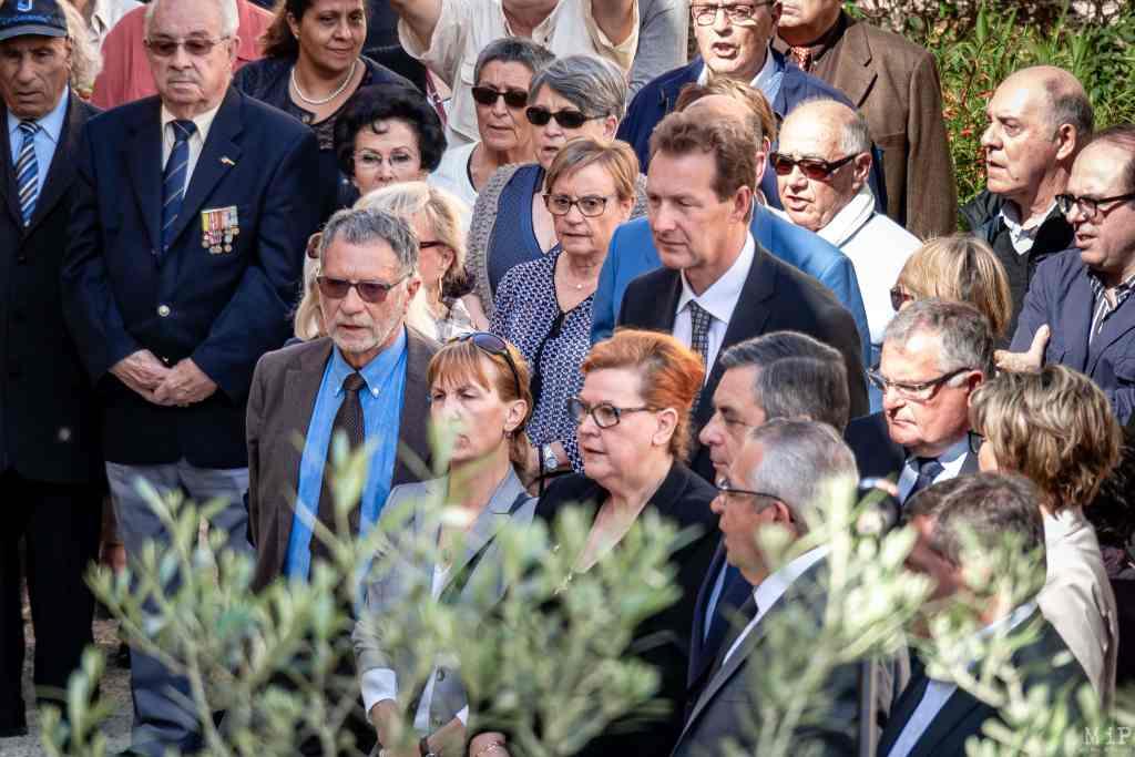 14/04/2017, Perpignan, France, François Fillon au mur des disparus © Arnaud Le Vu / MiP