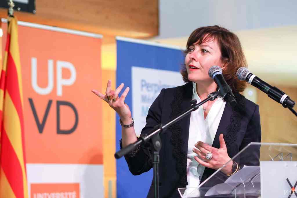 20/04/2018, Perpignan, France, Carole Delga à l'Université de Perpignan © Arnaud Le Vu / MiP