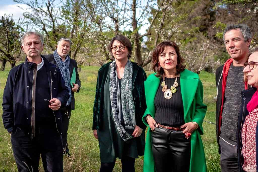 José Bové Agnès Langevine Carole Delga EELV Europe Ecologie Les Verts visite Université de Perpignan © Arnaud Le Vu / MiP