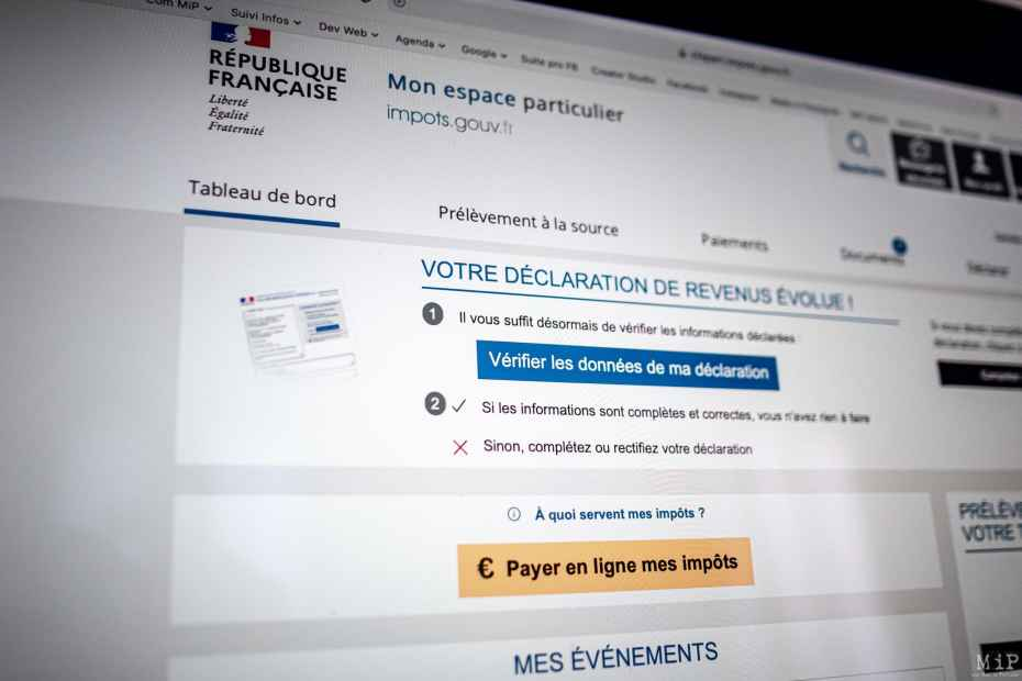 14/04/2021, Perpignan, France, Campagne déclaration impôts 2021 © Arnaud Le Vu / MiP