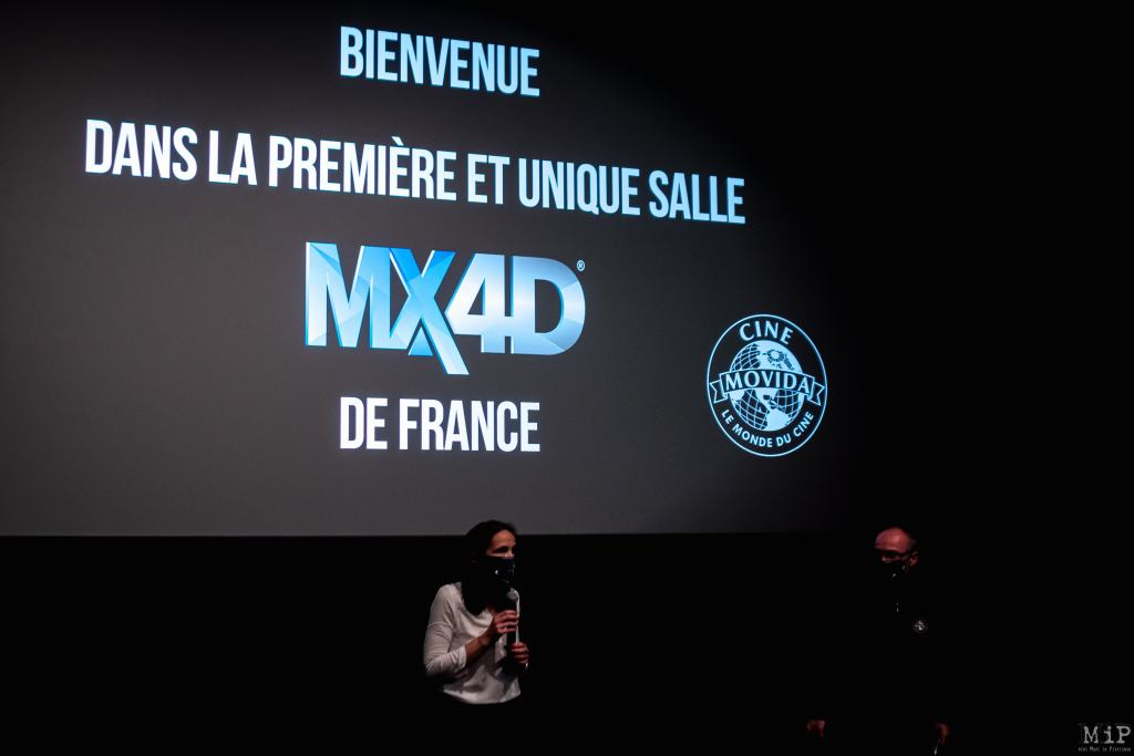 France, Perpignan, 2021-05-17. Cine Movida Mega Castillet will be the first cinema in France to offer MX4D technology. The MX4D room offers a totally immersive environment, where you can really feel the action on the screen thanks to the movements and special effects integrated in your seat and in the cinema room. Photograph by Arnaud Le Vu / Hans Lucas.  France, Perpignan, 2021-05-17. Le cinema Cine Movida Mega Castillet sera le premier cinema de France a proposer la technologie MX4D. La salle MX4D offre un environnement totalement immersif, ou vous ressentez reellement l action a l ecran grace aux mouvements et aux effets speciaux integres dans votre siege et dans la salle de cinema. Photographie de Arnaud Le Vu / Hans Lucas.
