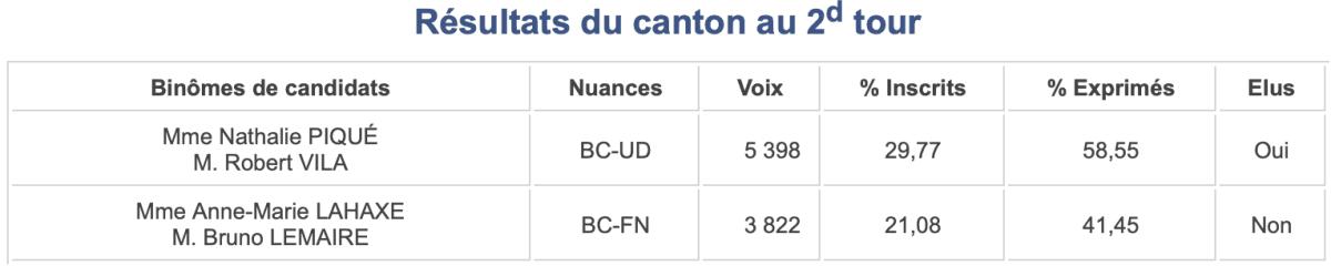 Départementales 2015, canton 14