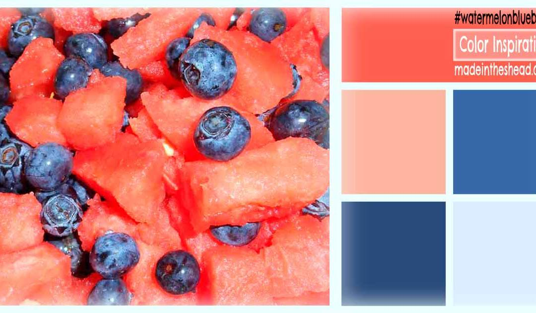 color inspiration: watermelon and blueberry