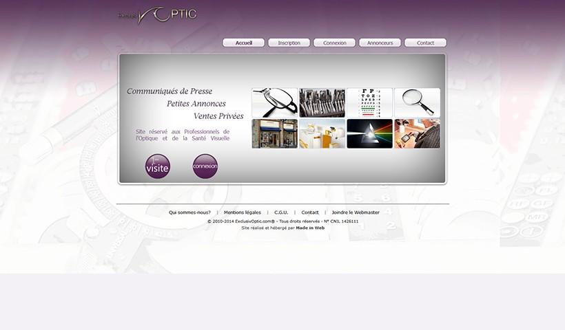 Exclusiv'Optic - Un site réalisé et hébergé par Made in Web
