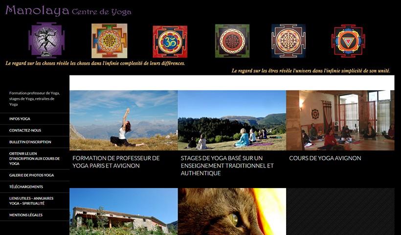 Yoga Manolaya - Un site suivi par Made in Web