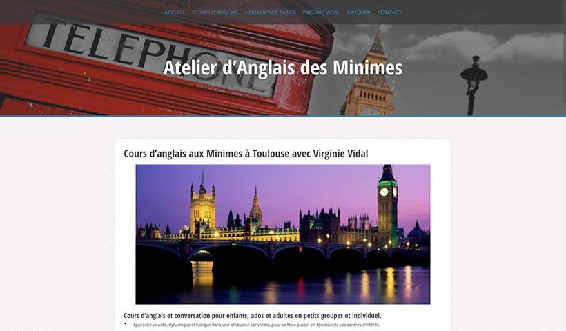 Cours d'anglais aux Minimes - Un site réalisé par Made in Web