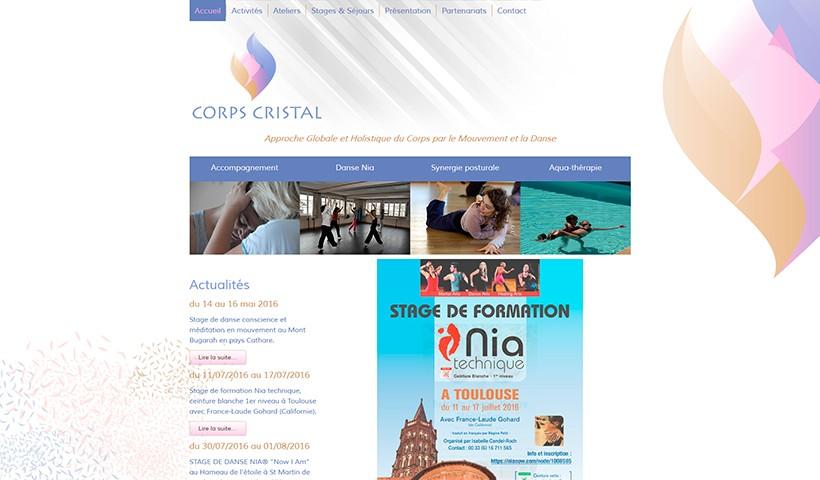 Corps Cristal - Un site réalisé par Made in Web