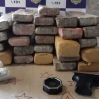 Mulher presa com quase 30 Kg de droga em Pimenta Bueno ia para Porto Velho