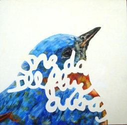 """""""One Day I'll Fly Away"""" Oil on panel, 12""""x12"""". 2011."""