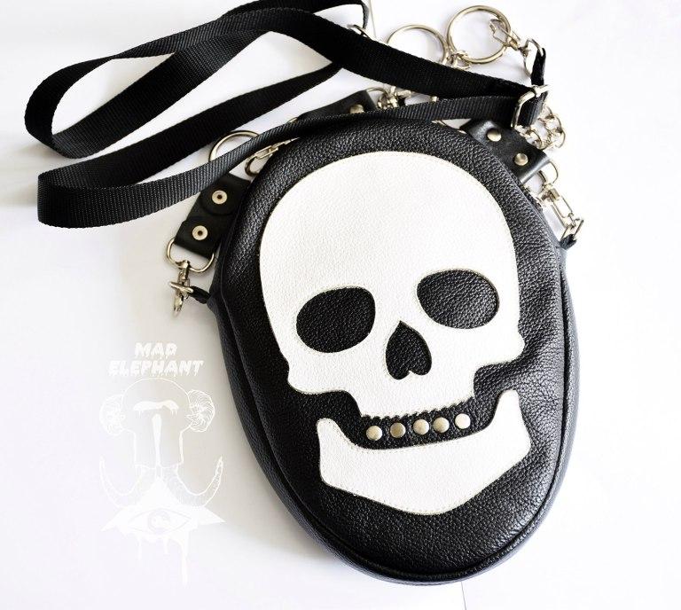 gothic skull shoulder bag