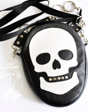 gothic skull shoulder bag