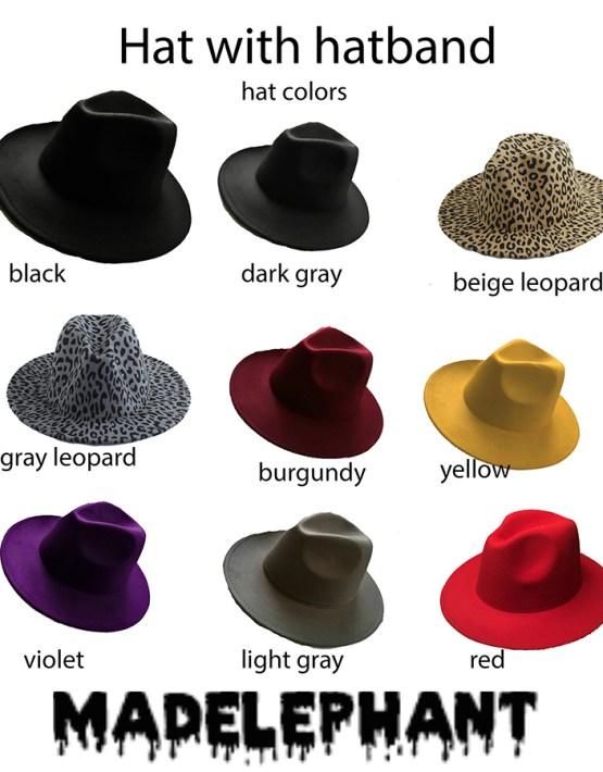 multicolor fedora hat