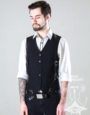 leather suspender harness