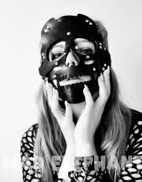 leather skull mask