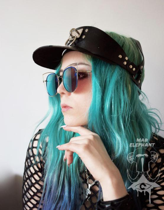 leather hat sun visor