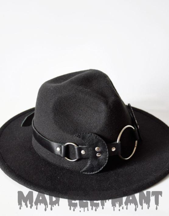 big black fedora hat
