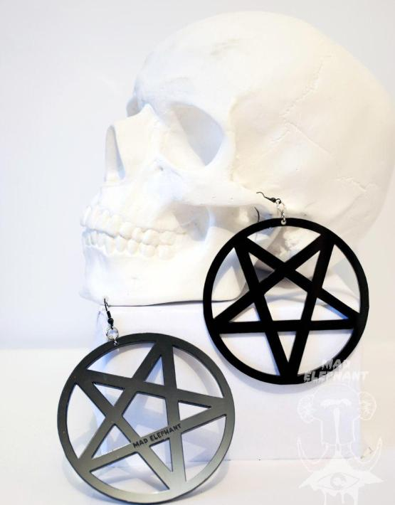 pentagram earrings hoops