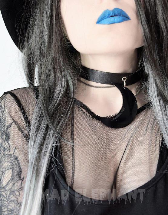 moon choker collar necklace