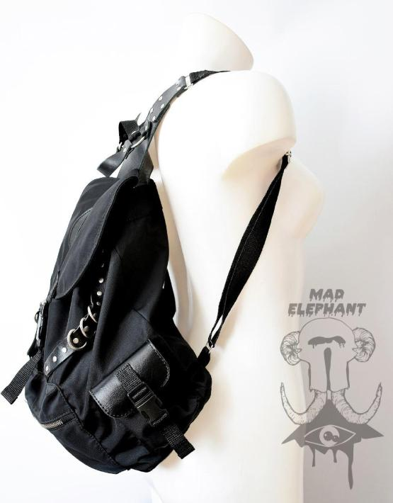 nylon drawstring backpack black zipper
