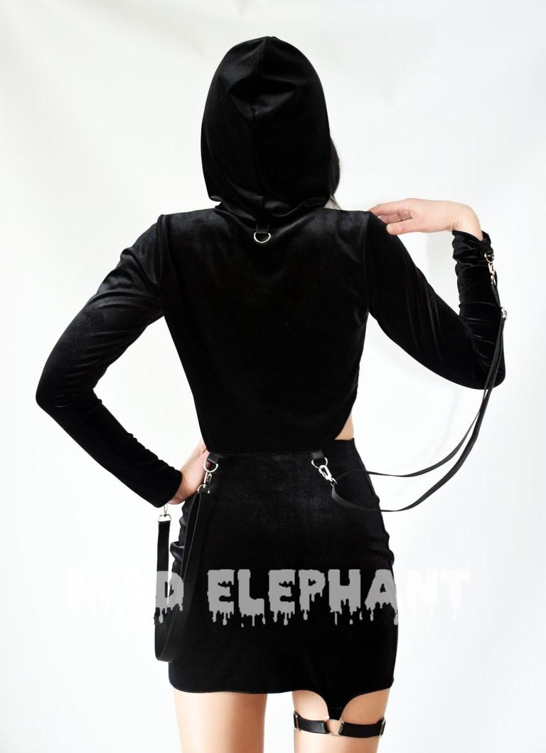 long sleeve hoodie crop top