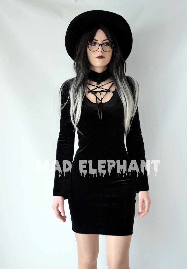 modern witch dress