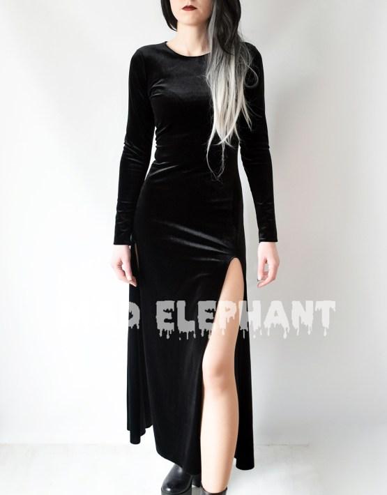 gothic velvet dress