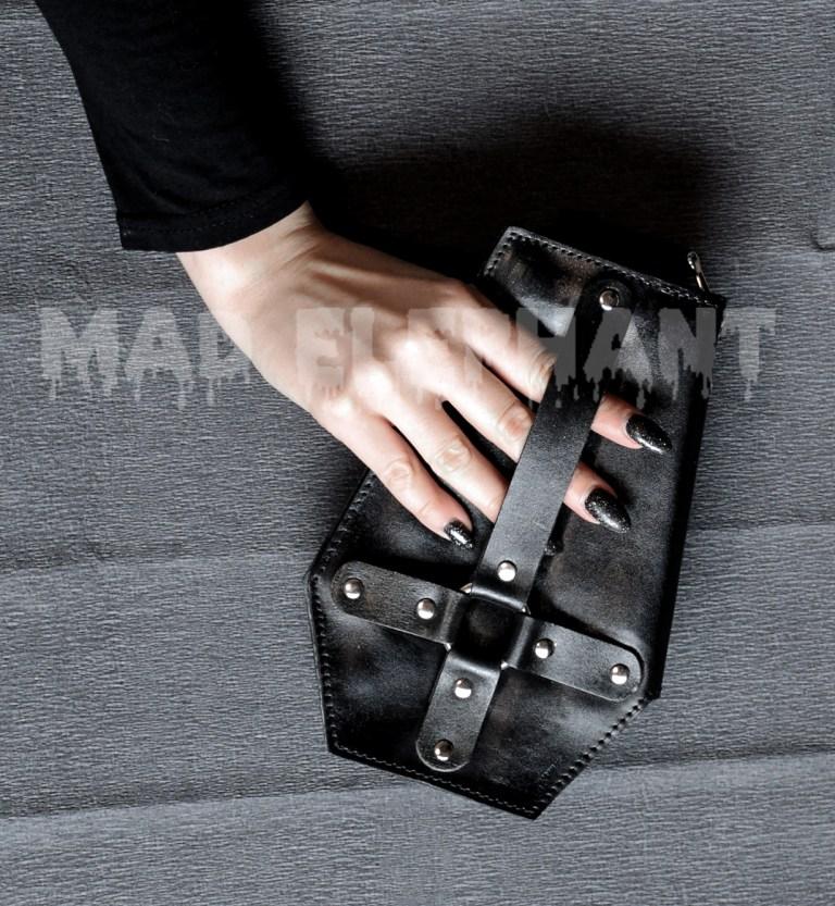 gothic coffin wallet